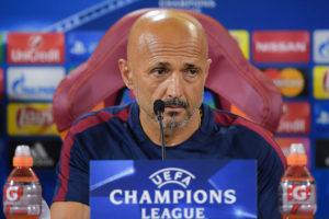 ROME, ITALY - AUGUST 22:  AS Roma coach Luciano Spalletti attends a press conference at Centro Sportivo Fulvio Bernardini on August 22, 2016 in Rome, Italy.  (Photo by Luciano Rossi/AS Roma via Getty Images)