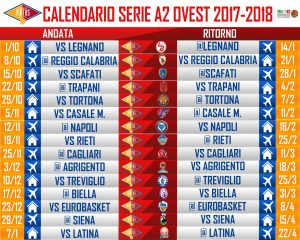 Calendario Serie A 2 Basket.Pubblicati I Calendari 2017 18 Per La Serie A2 Timeout Channel
